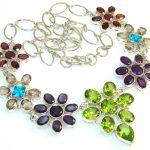 Fabulous Multicolor Quartz Sterling Silver Necklace