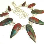 Special Moment!! Red Sonoram Jasper Sterling Silver Necklace