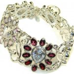Sunset Glow Multigem Sterling Silver Bracelet
