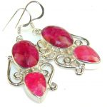 Love's Success Pink Ruby Sterling Silver earrings