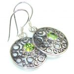 Fantastic Peridot Quartz Sterling Silver earrings