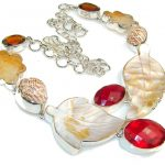 Unusal Style Of Red Quartz Sterling Silver necklace