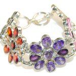 Bright Side!! Multigem Quartz Sterling Silver Bracelet