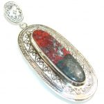 Beauty Red Sonora Jasper Sterling Silver Pendant