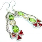 Impression Green Quartz Sterling Silver Earrings
