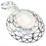 Passion Rose Quartz Sterling Silver pendant