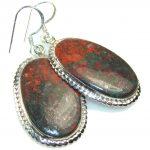 Red Sonora Jasper Sterling Silver earrings