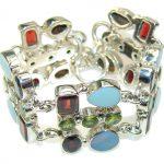 Great Impression!! Peridot Sterling Silver Bracelet