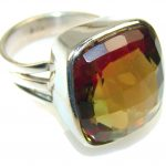 Amazing Color Changing Quartz Sterling Silver Ring s. 8