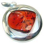 Big Dreamer!! Polish Amber Sterling Silver Pendant