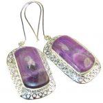 Amazing Purple Sugalite Sterling Silver earrings