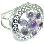 Delicate Amethyst Sterling Silver Ring s. 11