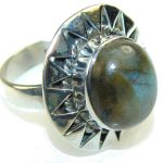 Morning Frost!! Labradorite Sterling Silver Ring s. 8