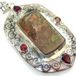 Beautiful Ammolite Sterling Silver Pendant