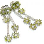 Stylish Peridot Quartz Sterling Silver earrings