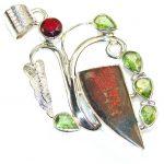 Wild Beauty!! Ammolite Sterling Silver Pendant