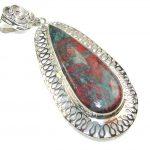 Pale Beauty!! Red Sonora Jasper Silver Pendant