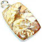 Natural Burro Creek Jasper Sterling Silver Pendant