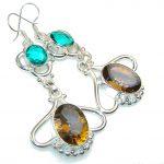 Precious Multicolor Quartz Sterling Silver earrings