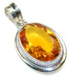 Awesome Golden Quartz Sterling Silver Pendant