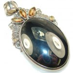 Amazing Silver Hematite Sterling Silver Pendant