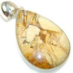 Let's Dance!! Burro Creek Jasper Sterling Silver Pendant