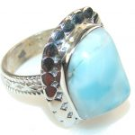 So In Love!! Blue Larimar Sterling Silver Ring s. 9
