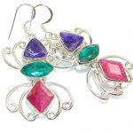 The One!! Pink Ruby Sterling Silver earrings