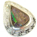 Gorgeous Design!! Ammolite Sterling Silver Pendant