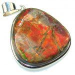 Inspire Red Ammolite Sterling Silver Pendant