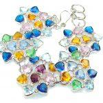 Passion Multicolor Quartz Sterling Silver Bracelet
