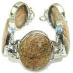 Incredible Design Picture Jasper Sterling Silver Bracelet
