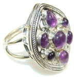 Lilac Kiss!! Purple Amethyst Sterling Silver ring s. 11
