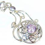 Purple Spell!! Lilac Quartz Sterling Silver Pendant