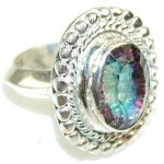 Disco Light!! Magic Topaz Sterling Silver ring; s. 10