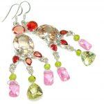 Fabulous Multicolor Quartz Sterling Silver earrings