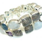 Aura Of Beauty!! Multigem Sterling Silver Bracelet