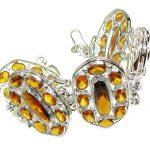 Sunshine Daze!! Honey Topaz Quartz Sterling Silver Bracelet