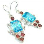 Fantastic Blue Quartz Sterling Silver Earrings