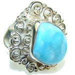 Traditons Light Blue Larimar Sterling Silver Ring s. 9