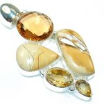Awesome Design!! Burro Creek Jasper Sterling Silver Pendant