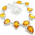 Natural Beauty!! Golden Quartz Sterling Silver necklace
