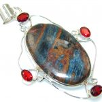 Fantastic Pietersite Sterling Silver pendant