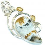Classy Montana Agate Sterling Silver Pendant