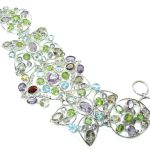 Big!! Bali Secret! Multigem Sterling Silver Bracelet