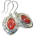 Delicate Brown Agate Sterling Silver earrings