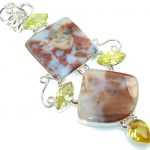 Fabulous Brown Moss Agate Sterling Silver pendant