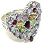 Love Multicolor Quartz Sterling Silver Ring s. 10