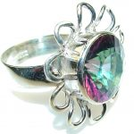 Tropical Magic Mystic Topaz Sterling Silver ring; s. 11