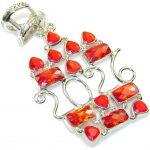 Lovely Red Quartz Sterling Silver Pendant